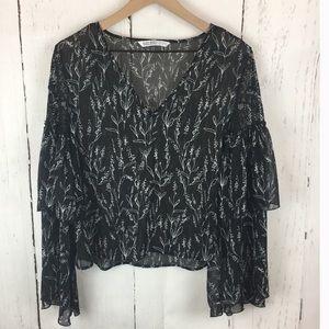 Zara | Bell Sleeve Blouse